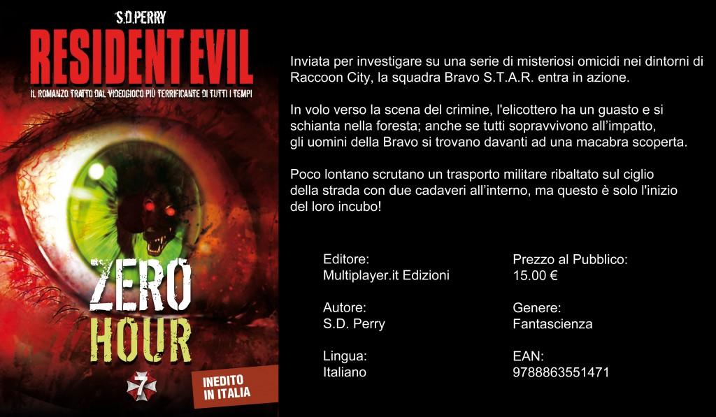 Resident Evil Zero Hour: arriva il romanzo inedito