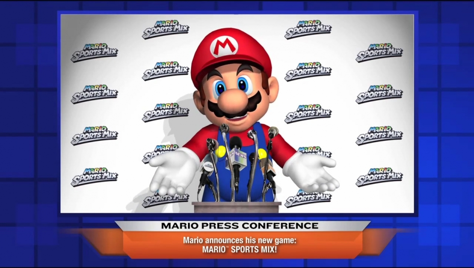 Immagine Mario ai microfoni per Mario Sports Mix