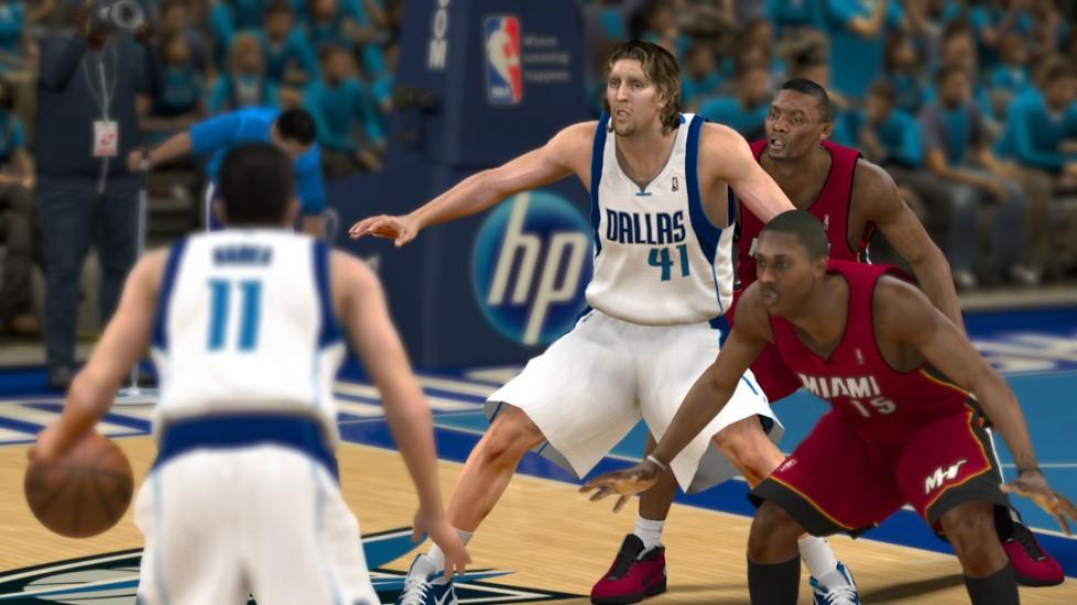 Uno screenshot di NBA 2K12