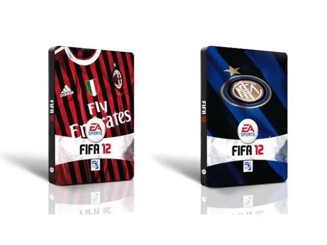 Immagine Steelbook Fifa 12 per Inter e Milan