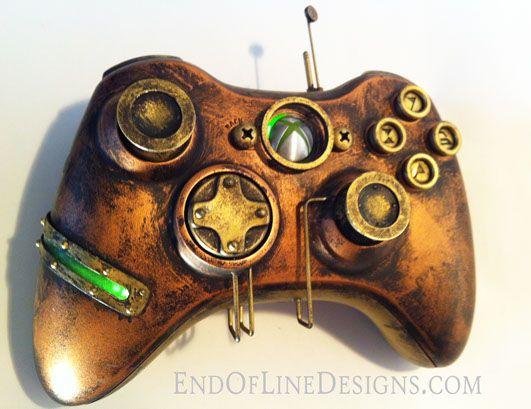 Xbox 360 gamepad - Steampunk http://endoflinedesigns.com/x360revisited.html?utm_medium