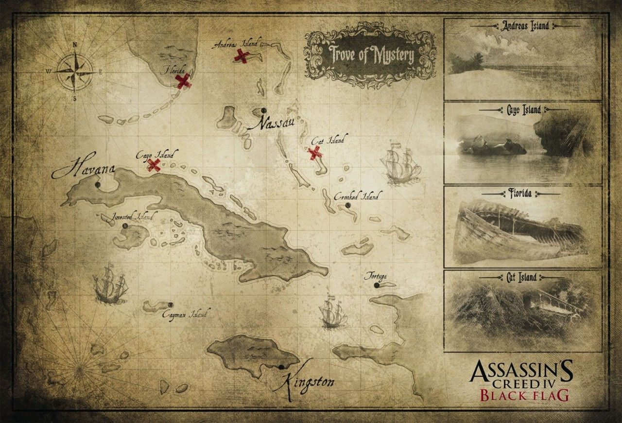 Immagine Trapela la mappa di Assassin's Creed IV: Black Flag