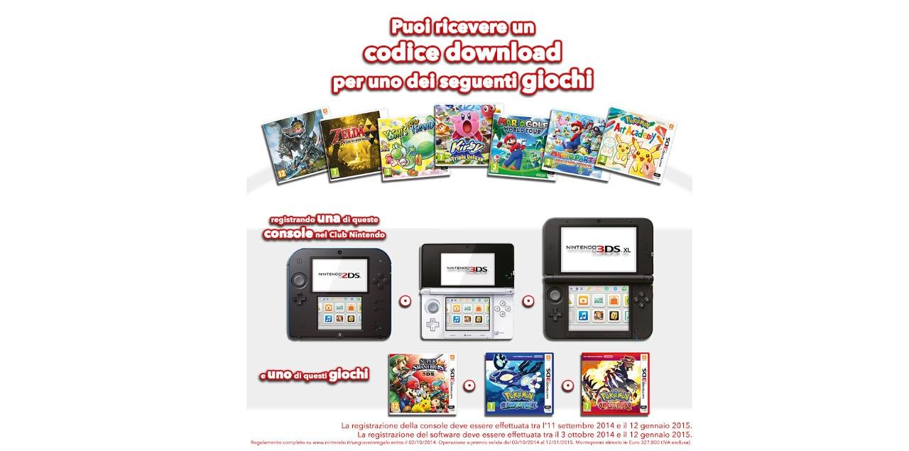 Immagine Nintendo regala un gioco a scelta a chi possiede 3DS e 2DS