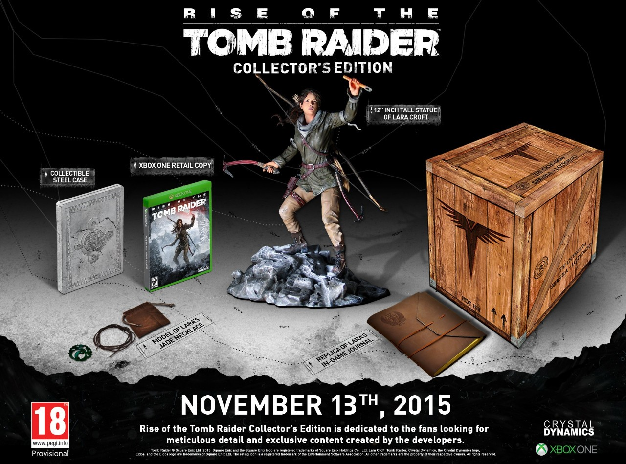 Immagine Annunciata la collector's edition di Rise of the Tomb Raider