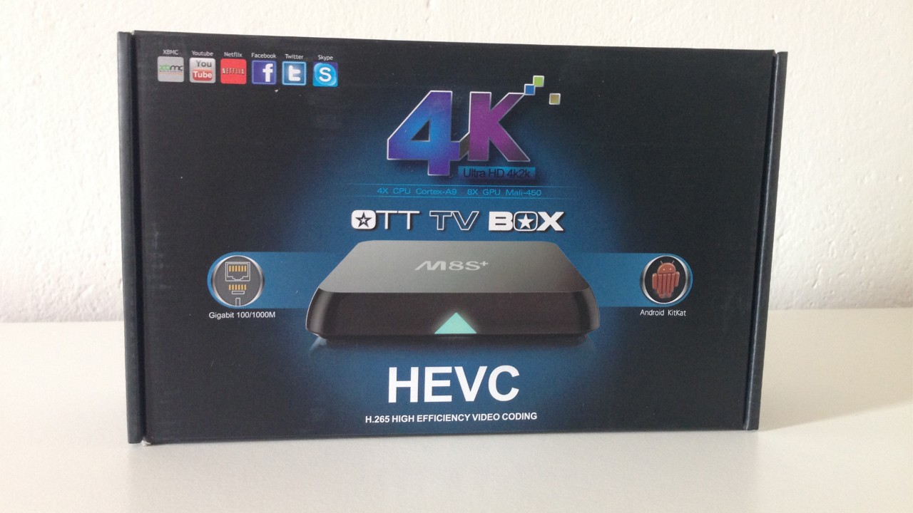 Recensione TV Box M8S+ con Android 4.4.2