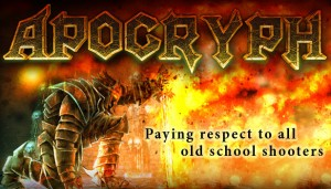 Cover Apocryph: an old-school shooter