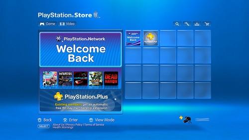 Immagine PlayStation Store: Welcome Back e giochi spariti