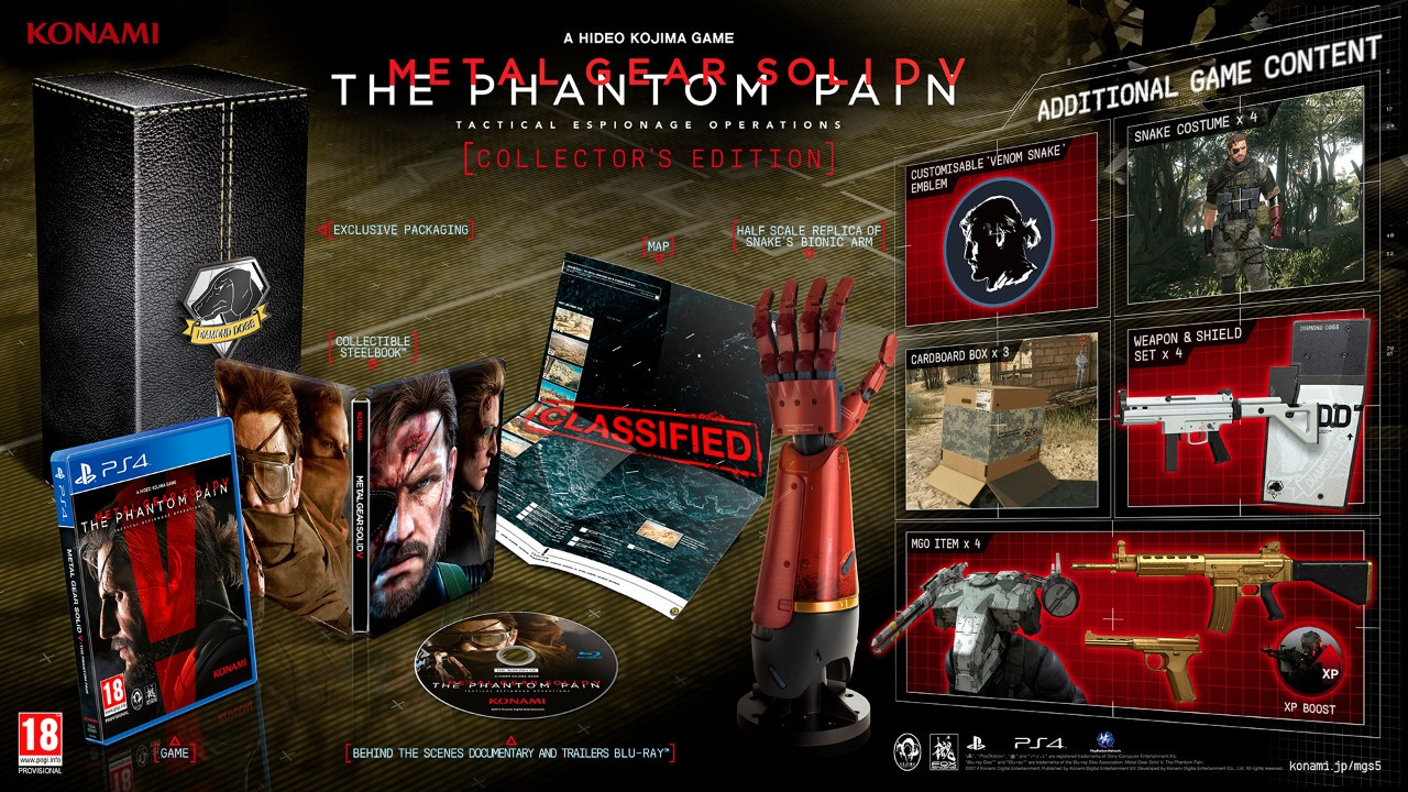 Immagine Ecco la collector's edition di MGS V: The Phantom Pain