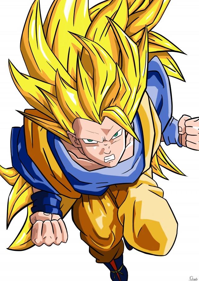 Miei Disegni Goku Super Saiyan 3 Livello è Un Malato Di Cancro